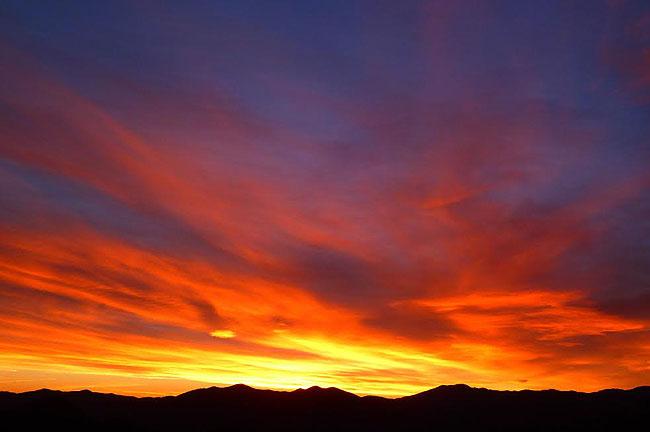 Paisatge i meteorologia de febrer al Ripollès Albada a coll de Jou (6 de febrer). Foto: Antonina Coromina
