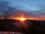 Paisatge i meteorologia de febrer al Ripollès Albada des de serra Cavallera (8 de febrer). Foto: Antonina Coromina