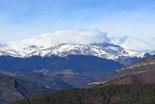 Paisatge i meteorologia de febrer al Ripollès El Puigmal poc nevat des de Ripoll (13 de febrer). Foto: Antonina Coromina