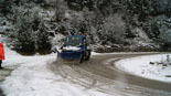 Paisatge i meteorologia de febrer al Ripollès Nevada a la carretera de Vallter (16 de febrer). Foto: Robert Blasco