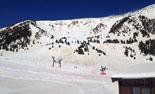 Paisatge i meteorologia de febrer al Ripollès Neu amb pols sahariana a Vallter (19 de febrer). Foto: Quim Argemí