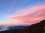 Paisatge i meteorologia de febrer al Ripollès Sortida de sol des de la serra Cavallera (20 de febrer). Foto: Antonina Coromina