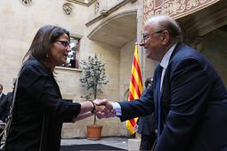 Alcaldes del Ripollès a l'acte municipalista de suport al 9-N