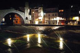 Llevantada 28-30 de novembre al Ripollès El Ter a Camprodon (dissabte a la nit). Foto: Dani Rodríguez