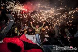 El resum del 2014 al Ripollès, en imatges Correfoc de Sant Eudald. Foto: Rastres Fotografia