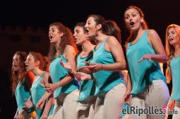 El resum del 2014 al Ripollès, en imatges El Cor Geriona, en concert al Cicle del Comte Arnau de Sant Joan. Foto: Marc Cargol