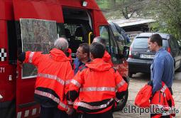 El resum del 2014 al Ripollès, en imatges Tasques de recerca d'un avi de Ripoll desaparegut durant tres dies. Foto: Arnau Urgell