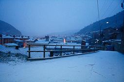 Nevada del 4 de febrer a Ripoll Ripoll es lleva enfarinat el dimarts 4 de febrer (7.30). Foto: Arnau Urgell