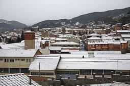 Nevada del 4 de febrer a Ripoll Enfarinada a Ripoll el dimarts 4 de febrer  (9.00). Foto: Arnau Urgell
