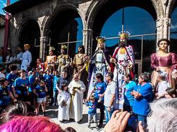Festa Major de Sant Eudald: trobada de gegants