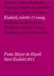 Concurs de Cartells de Sant Eudald 2011