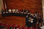 Constitució dels ajuntaments del Ripollès Ramon Roqué prometent el càrrec d'alcalde. Foto: Ajuntament de Sant Joan
