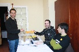 Consultes sobre la independència del 25 d'abril Primer votant a Camprodon