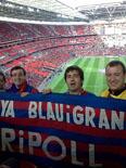Culers del Ripollès a Wembley Foto: Jordi Serrano