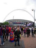 Culers del Ripollès a Wembley Foto: Toni Arribas