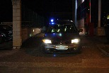 Detenció de suposats membres d'ETA al Ripollès Sortida dels cotxes de la Guàrdia Civil que traslladaven els detinguts