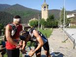 Ultratrail els Bastions de la Vall de Ribes Jordi Sans i Juan Martínez a Planoles. Foto: Roger Peñarroya