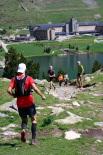 Ultratrail els Bastions de la Vall de Ribes Juan Miguel Cuenca a punt d'arribar a Núria. Foto: Arnau Urgell
