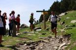 Ultratrail els Bastions de la Vall de Ribes Jorge Martínez Balástegui a punt d'arribar a Núria. Foto: Arnau Urgell