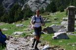 Ultratrail els Bastions de la Vall de Ribes Un participant de la ultratrail a punt d'arribar a Núria. Foto: Arnau Urgell