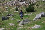 Ultratrail els Bastions de la Vall de Ribes Josep Maria Cabanas a punt d'arribar a Núria. Foto: Arnau Urgell