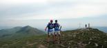 Ultratrail els Bastions de la Vall de Ribes Ivan Parés i Dani Parés, al cim del Taga. Foto: www.corriolsdellum