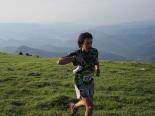 Ultratrail els Bastions de la Vall de Ribes Dani Ballesteros, a la Covil. Foto: Marta Alsina