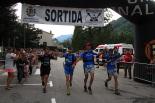 Ultratrail els Bastions de la Vall de Ribes Arribada vencedors trail: Roger Reguant, Ivan Bober, Ivan Parés i Dani Parés. Foto: Laia Deler