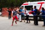 Ultratrail els Bastions de la Vall de Ribes Arribada de Carles Rossell, primer classificat de la ultratrail. Foto: Laia Deler