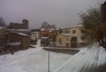 Glaçades i enfarinada del 23 de desembre Vallfogona ha quedat ben blanc. Foto: Ajuntament de Vallfogona