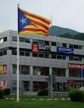 Diada Nacional: estelades al Ripollès Giratori sud de Ripoll. Foto: Arnau Urgell