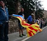 Flama del Canigó a Ripoll amb cadena humana per la independència, 2013