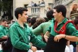 Trobada gegantera Ripoll 2013 i actuació dels Castellers de Sant Cugat