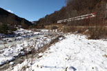 Rius glaçats per l'onada de fred Gel al Rigard a Fornells de la Muntanya. Foto: Josep Maria Costa