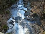 Rius glaçats per l'onada de fred El riu Segadell glaçat a Pardines. Foto: Josep Manuel Mercader/Meteoribes