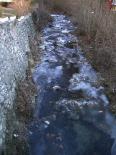 Rius glaçats per l'onada de fred El riu Segadell glaçat a Ribes de Freser. Foto: Josep Manuel Mercader/Meteoribes