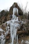 Rius glaçats per l'onada de fred La Font de la Tosca ben congelat. Foto: Ajuntament de Vallfogona