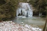 Rius glaçats per l'onada de fred Foto del torrent de la Masica ben glaçat. Foto: Ajuntament de Vallfogona
