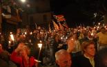 Diada Nacional: marxa de torxes de Ribes