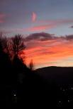 Paisatge i meteorologia desembre 2011 i gener 2012 Capvespre de la nit de Reis a Ripoll (5 de gener). Foto: Arnau Urgell