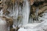 Paisatge i meteorologia desembre 2011 i gener 2012 Gel al riu Rigard (16 de gener). Foto: Josep Maria Costa