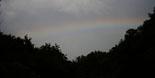 Ripollès: paisatge i meteorologia (juny-juliol 2011) Tímid arc de Sant Martí a Ripoll. Foto: Arnau Urgell