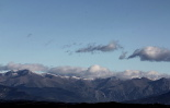 Ripollès: meteorologia (setembre i octubre 2011) El Pirineu nevat des d'Osona (19 de setembre). Foto: Josep Maria Costa