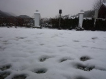 Nevada del 15-16 de febrer A Sant Pau de Segúries han caigut uns 3 cm de neu. Foto: Montse Muntadas