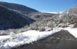 Nevada del 28 i 29 de gener La carretera de Pardines. Foto: Arnau Urgell