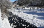 Nevada del 28 i 29 de gener El balneari de Montagut ben blanc. Foto: Arnau Urgell