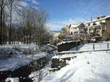 Nevada del 28 i 29 de gener Camprodon ben blanc aquest dissabte. Foto: Marcel Urgell