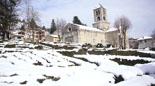 Nevada del 28 i 29 de gener Camprodon ben blanc aquest diumenge. Foto: Marcel Urgell