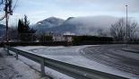 Nevada del 28 i 29 de gener Ripoll es desperta enfarinada. Foto: Arnau Urgell