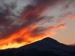 Nevada del 28 i 29 de gener Sortida de sol al Taga. Foto: Jordi Campos